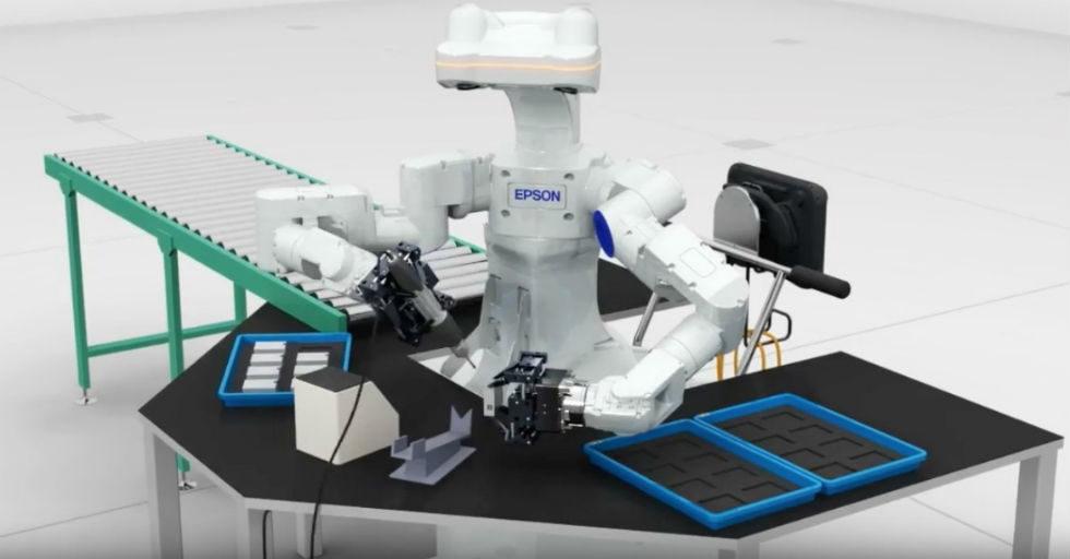 Unikalne Autonomiczna frezarka CNC, robot o ludzkich dłoniach, połączony XX71